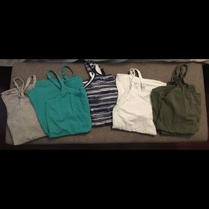 Lots of 5 like NEW Gilligan&Omalley Nursing Tanks
